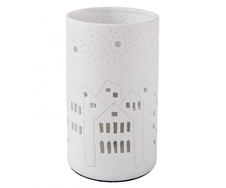 Porcelánová stolní lampa Les Maisons – Ø 12*20 cm / E27/max 1*30W