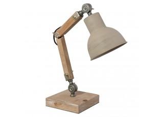 Dřevěná stolní lampa Elayne – 15*15*47 cm E27/max 1*60W
