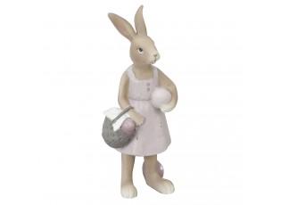 Dekorace králičí slečna s košíkem - 6*5*14 cm