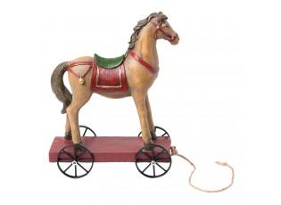Kůň na kolečkách - 15*7*20 cm