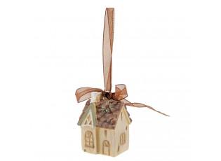 Závěsná ozdoba vánoční dům - 3*2*4 cm