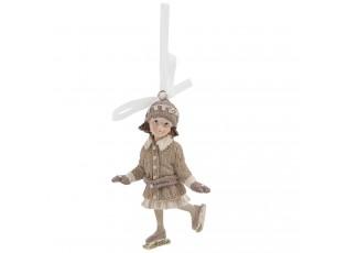 Závěsná dívka na bruslích - 6*4*10 cm