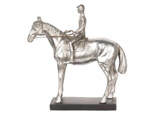 Stříbrná socha Jezdec na koni  - 26*9*27 cm