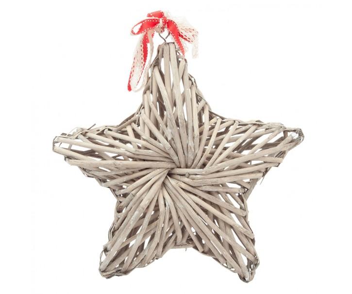 Závěsná ratanová hvězda - 35*7*35 cm
