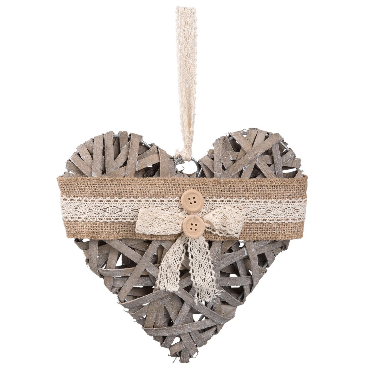 Závěsné dřevěné srdce - 20*4*20 cm