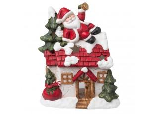Domeček na čajovou svíčku Santa - 31*15*37 cm