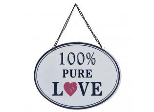 Vysací kovová cedule Love - 18*14 cm