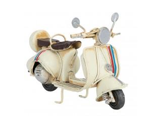 Kovový retro model béžového mopedu - 11*5*7 cm