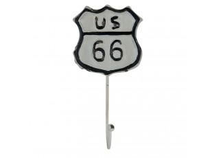 Kovový nástěnný háček US 66 - 10*5*20 cm