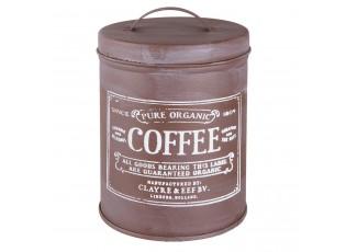 Plechová dóza na kávu ve vintage stylu – Ø 10*14 cm / 0.8 L