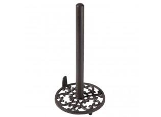 Kovový stojan na kuchyňské utěrky se zarážkou - Ø 16*32 cm
