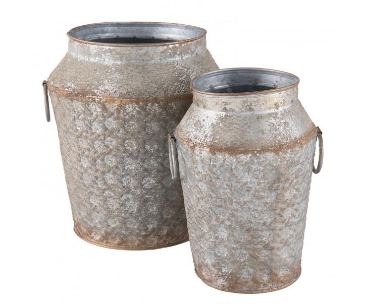 2plechové džbány - Ø 20*21 cm / Ø 14*19 cm