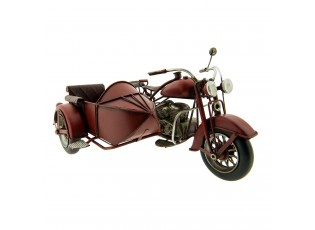 Retro model motocyklu s postranním vozíkem - 27*20*14 cm