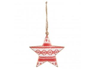 Závěsná kovová hvězda - 10*1*11 cm