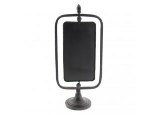 Černá kovová tabule - 16*10*35 cm