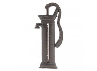 Ruční čerpadlo s teploměrem - 8*2*19 cm