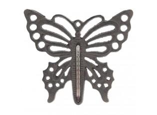 Kovový teploměr Motýl - 17*15 cm