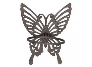 Hnědo černý držák na ručník/utěrku ve tvaru motýla - 18*15*23 cm