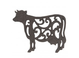 Litinová podložka kráva - 27*21*2 cm