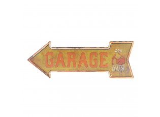 Kovová cedule GARAGE - 46*15 cm