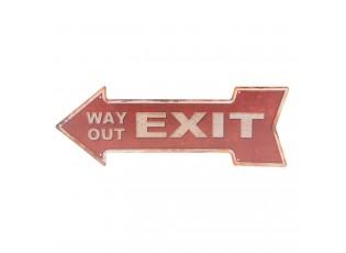 Červená plechová cedule Exit - 46*15 cm