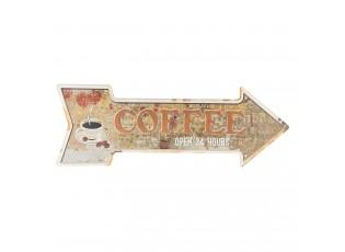 Plechová cedule COFFEE - 46*15 cm
