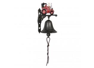 Litinový zvonek na dveře s retro traktorem - 13*10*20 cm