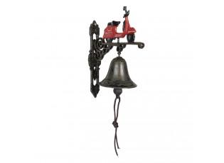 Kovový zvonek s koloběžkou - 18*11*22 cm