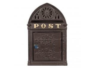 Hnědá poštovní schránka Post - 22*9*35 cm