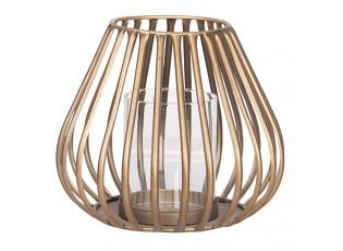 Měděná kovová lucerna s patinou - Ø 19*16 cm