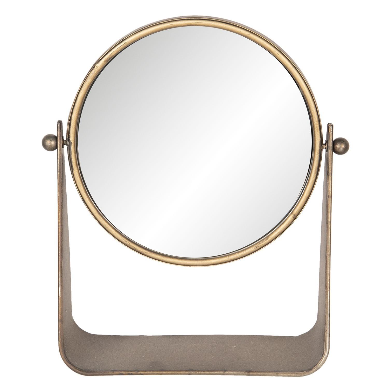Zlaté kosmetické zrcadlo Antik - 30*10*36 cm
