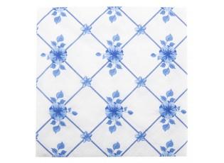Papírové ubrousky s modrými květy - 33*33 cm (20)
