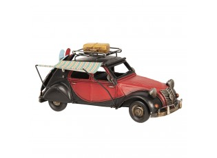 Kovový retro model auta kachna se stínící plachtou - 29*11*14 cm