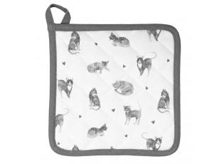 Bavlněná kuchyňská chňapka Cats and Kittens - 20*20 cm