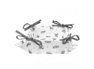 Bavlněný oboustranný košík na pečivo Cats and Kittens - 35*35*8 cm