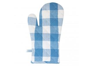 Modrá károvaná chňapka Classic Farmers - 16*30 cm