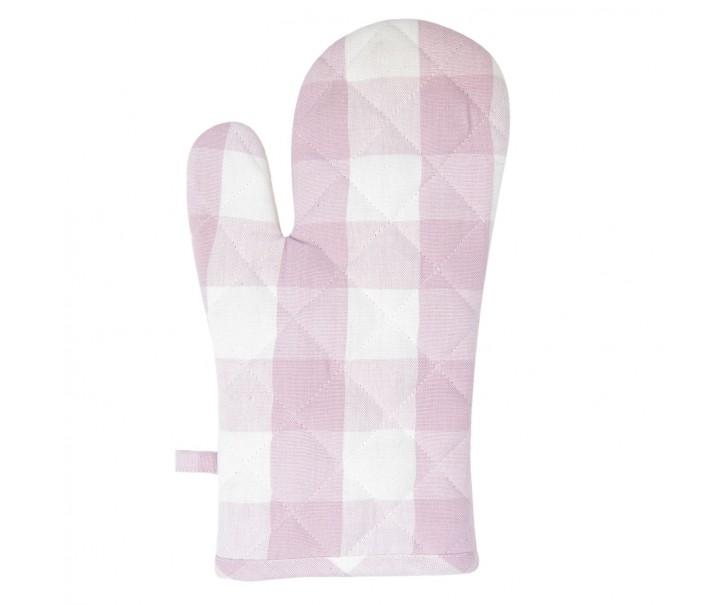 Růžová károvaná chňapka Classic Farmers - 16*30 cm