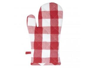 Červená károvaná chňapka Classic Farmers - 16*30 cm