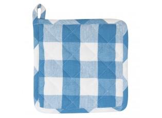 Modrá károvaná chňapka-podložka Classic Farmers - 20*20 cm