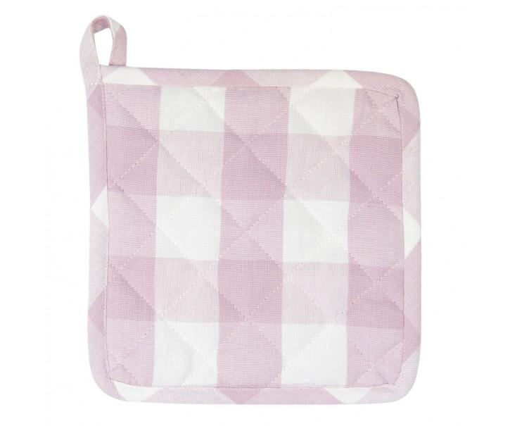 Růžová károvaná chňapka-podložka Classic Farmers - 20*20 cm