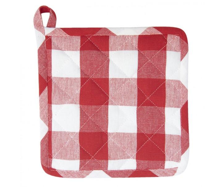 Červená károvaná chňapka-podložka Classic Farmers- 20*20 cm