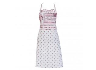 Kuchyňská zástěra Cross stitched pattern red - 70*85 cm