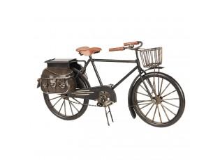 Kovový retro model kola s košíkem a brašnou - 31*9*16 cm
