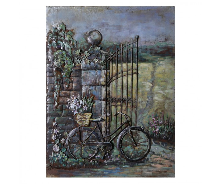Umělecký kovový obraz Bike - 75*6*100 cm