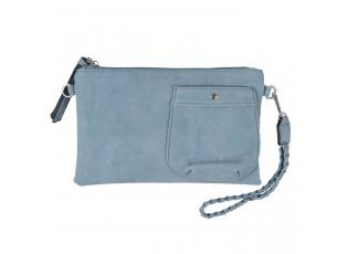 Modrá toaletní taška do ruky i přes rameno - 17*26 cm