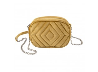 Žlutá sametová kabelka přes rameno - 20*7*15 cm