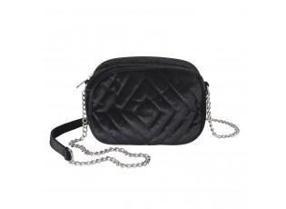 Černá sametová kabelka přes rameno - 20*7*15 cm