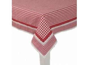 Obrus Flower Basket červený - 100 * 100cm