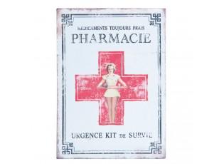 Plechová krabička na léky - 15*11*6 cm