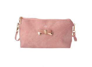 Růžová kabelka psaníčko Bow - 24*17 cm